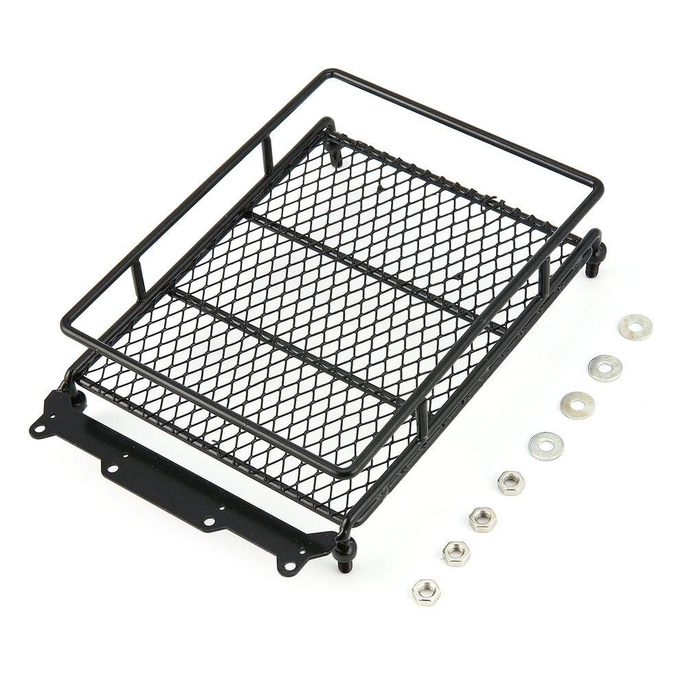 Portaequipajes t-power de Metal con 4 barras de luces para 1/10 RC Car Rock Crawler HIP CC01 AXIAL SCX10 RC4WD D90