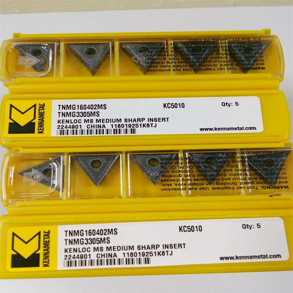 YZ66 5 pcs TNMG160402MS KC5010 CNC Pastilhas De Metal Duro Originais