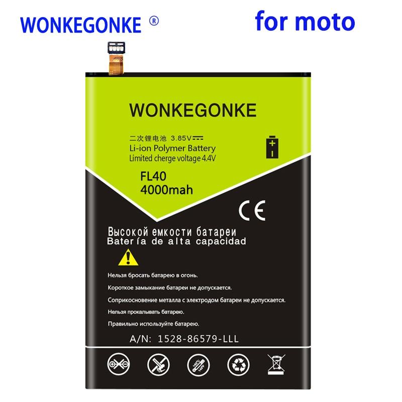 WONKEGONKE 4000mah FL40 batería para Motorola Moto X 3A Dual XT1543 XT1544...