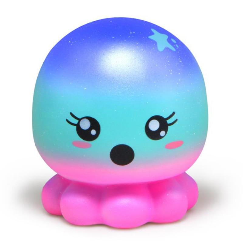 Jumbo colorido galáxia polvo squishy bonito brinquedos squeeze lento subindo suave doce scented stress alívio do divertimento para o miúdo presente de natal
