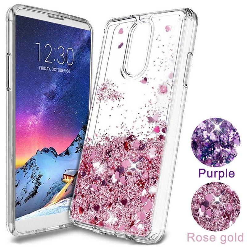 Чехол для телефона Oneplus 6 6T 7 Pro, блестящий чехол со звездами, сердечками, жидким песком, Мягкая силиконовая задняя крышка для One Plus 6