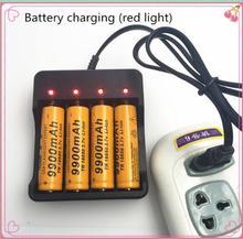 4 szt. 18650 bateria 3.7 V 9900 mah akumulator litowo-jonowy 18650 batery + 1 szt. 18650 ładowarka inteligentna