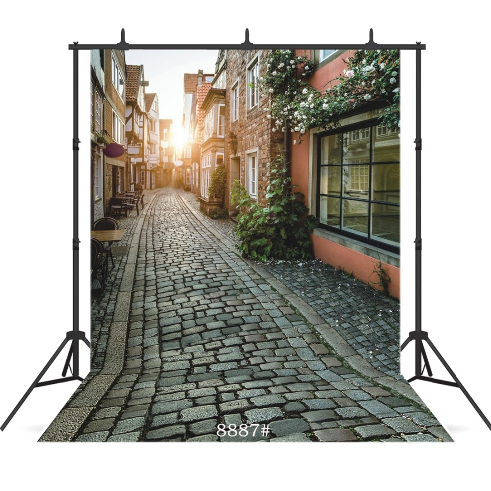 Vintage Street Sunlight Vinyl Photographic Background For Child Baby New Born Shower Portrait  Backdrop Studio Shoot Photocall