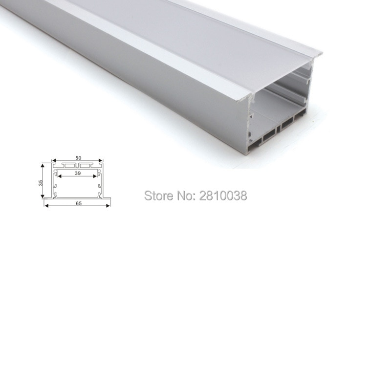 100 X 2M Sets/Lot Linear light led aluminum channel Large T style aluminium led profile housing for ceiling embedded lamps