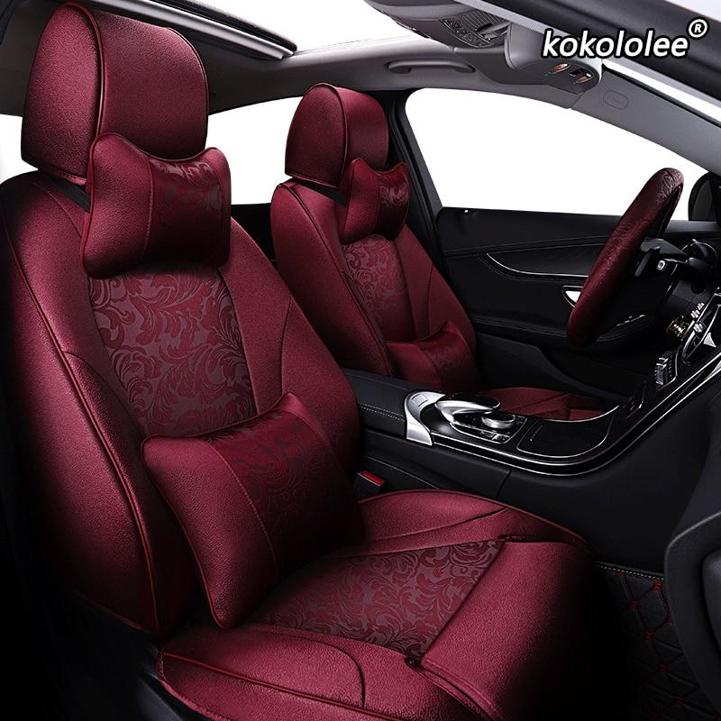 Kokolee-housse de siège de voiture   En tissu, personnalisée, pour Geely Emgrand EC7 Jingang Yuanjing GX7 GC7 GX2 UFO SC3 SC5 SC6 SX7