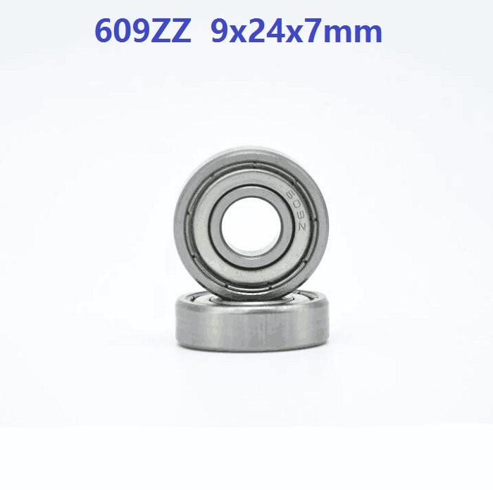 500 unids/lote 609ZZ 609Z 609 Z ZZ 9*24*7mm rodamiento rígido de bolas doble blindado Mini miniatura para piezas de impresora 3D 9x24x7mm