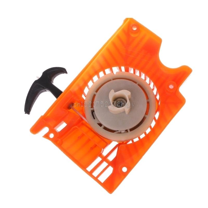 Cortador de grama único recoil pull start starter para motosserra chinesa 4500 5200 5800 d22 dropship