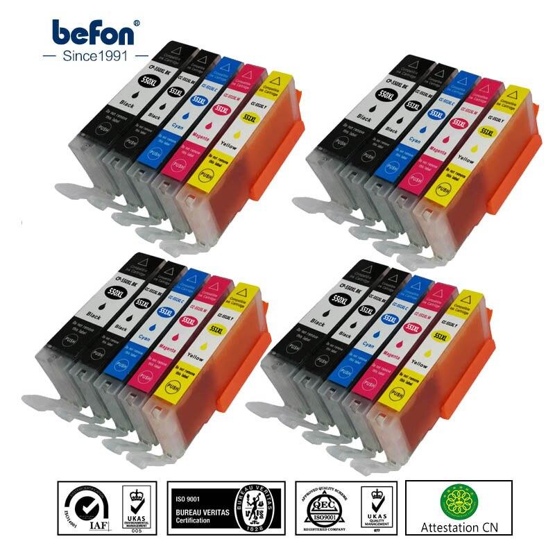 befon X4 set 550 551 XL Compatible  Ink Cartridge Replacement for Canon PGI-550XL PGI550 PGI 550 CLI551 for PIXMA IP7250 MG5450