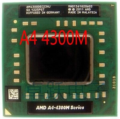 AMD Laptop Notebook CPU processor A4-4300M 2.5Ghz Socket FS1 A4 4300M AM4300DEC23HJ free shipping