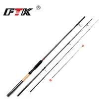 FTK Удочка 99% карбоновая кормушка 3 секции C.W 40-120 г 3,3 М 3,6 м 3,9 м с 3 кончики стержней стандартная приманка для рыбалки