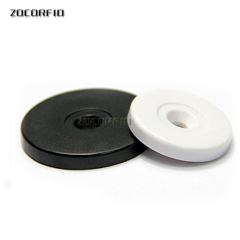 100 unids/lote 125KHZ EM4100 diámetro 30mm redondo Anti-agua rfid etiqueta guardia patrulla puntos RFID Tarjeta de moneda