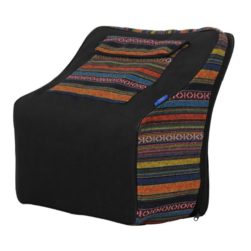 Bolso de tela de algodón de estilo nacional, funda suave, mochila de transporte