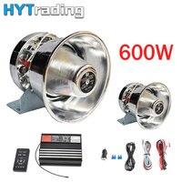 Car Horns 600W 8 Sound Loud Car Auto Warning Alarm Police Fire Siren Horn PA Speaker MIC System 12V Sirena Policia