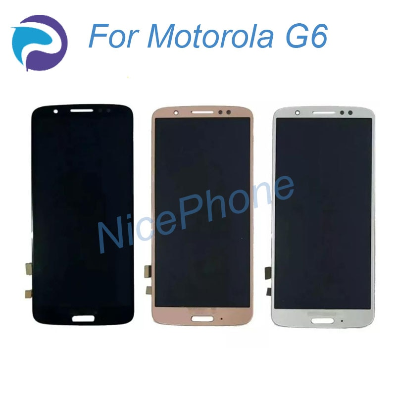 Para Motorola G6 LCD pantalla táctil digitalizador pantalla reemplazo G6 XT1925 para Motorola G6