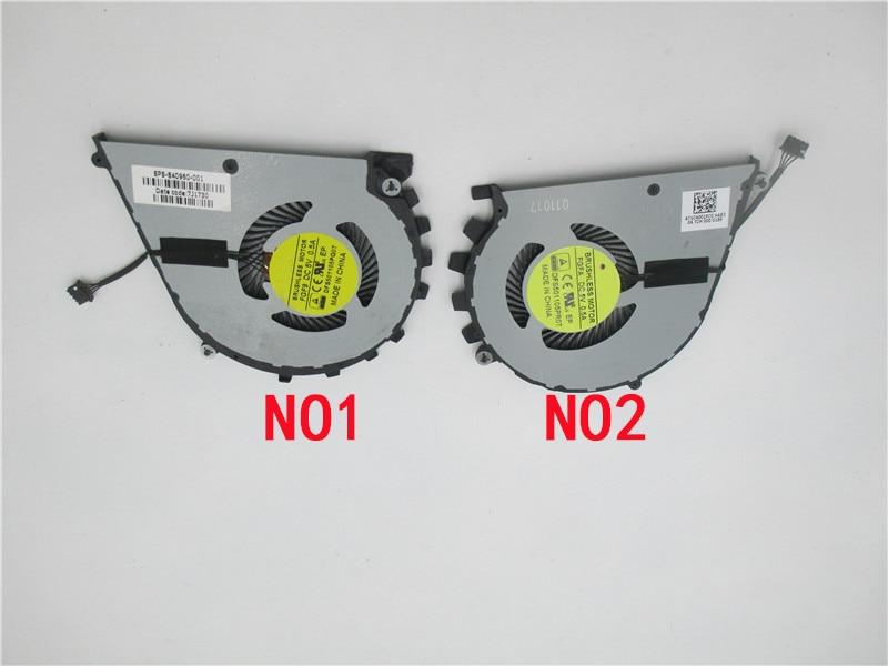 Enfriador ventilador cpu para FGFA DFS501105PR0T FGF9 DFS501105PQ0T 840960-001 7J1730 NS75C07-15C04 NS75C08-15C05 HP ZBook-17 Studio-G3