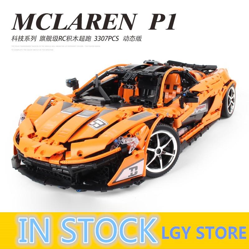 Serie Técnica McLaren P1 Hypercar 3307 piezas MOC naranja Super Racing Car 20087 Sets Kits de construcción ladrillos juguetes para los niños