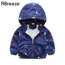 New Summer & autumn children jackets casual hooded kids outerwear/coats 1-7T blue and whith style ja