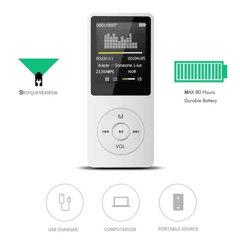 Hiperdeal Mini 2018 reproductor MP3 portátil de moda pantalla LCD Radio FM Video juegos película Dropshipping Jun 26