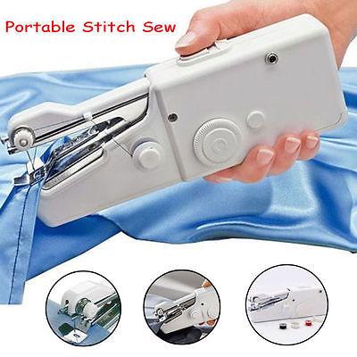 Portable Mini Stitch Sew Hand Held Sewing Machine Quick Handy Cordless Repair DIY Sewing Machines