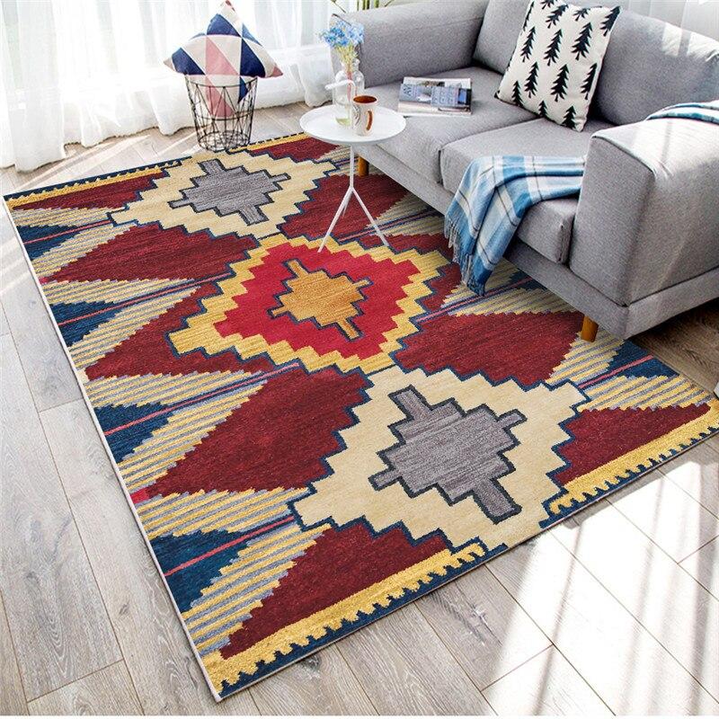 المغربي نمط سجادة غرفة معيشة المنزل Rugs السجاد لغرفة النوم الأمريكية السجاد أريكة طاولة شاي البساط غرفة الدراسة العرقية الحصير الكلمة