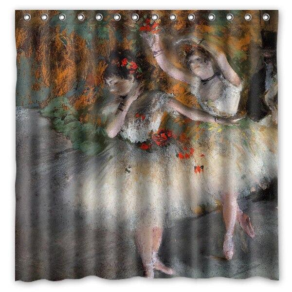 180x180cm a prueba de Cortina para bañera o ducha Edgar Degas Ballet baile pintura baño CurtainsRideau Cortina de ducha de la ducha