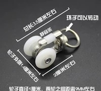30pieceslot curtain track pulley silent wheel hook curtain accessories word rail slide