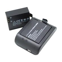 2*Digital Batteries 1050mAh Li-ion 2pcs Battery Charger For Eken SOOCOO SJCAM SJ4000 SJ5000 M10 F60 Action Sport Camera cam