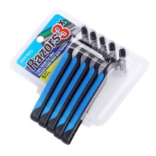 1 set = 4 pièces De Sécurité anti-dérapant poignée 11x4 cm en acier inoxydable Lame Rasoirs avec le paquet De carte de Boursouflure outils De Rasage pour lépilation