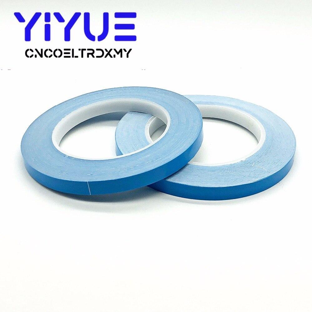 25 m/Roll 8mm 10mm 12mm 20mm Largura Fita de Transferência Térmica de Dupla Face Adesiva Condutora fita para Chip Tira PCB LEVOU Dissipador de Calor
