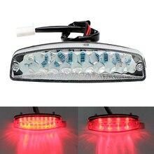 LED Moto feux arrière pour vtt Quad Kart Moto éclairage indicateur lampe Moto queue frein lumière café Racer