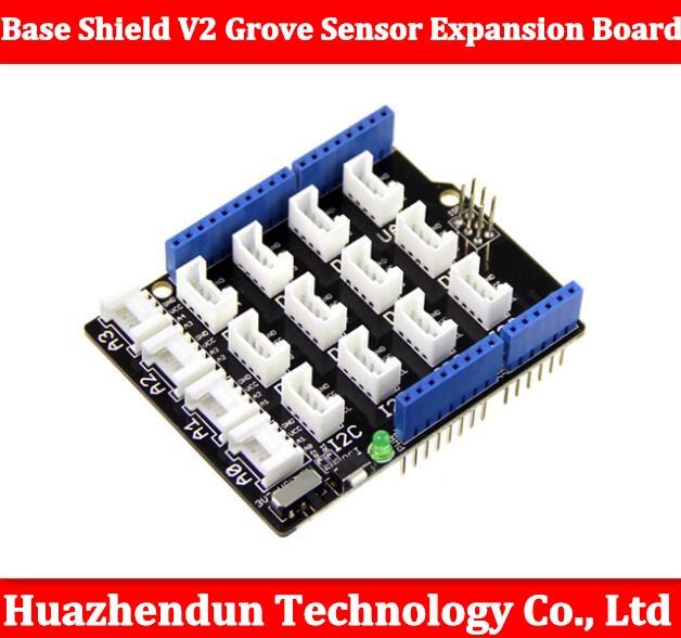 Free shipping Base Shield V2 Grove Sensor Expansion Board Compatible for Arduino Grove Sensor Shield