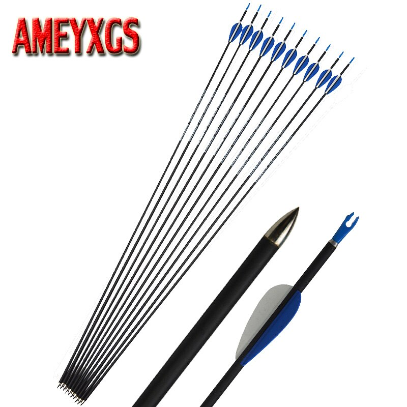 3/6/12pcs Archery Carbon Arrow 32inch Spine 1200 Mix Carbon Arrow OD 5.6mm Practice Hunting Accessory