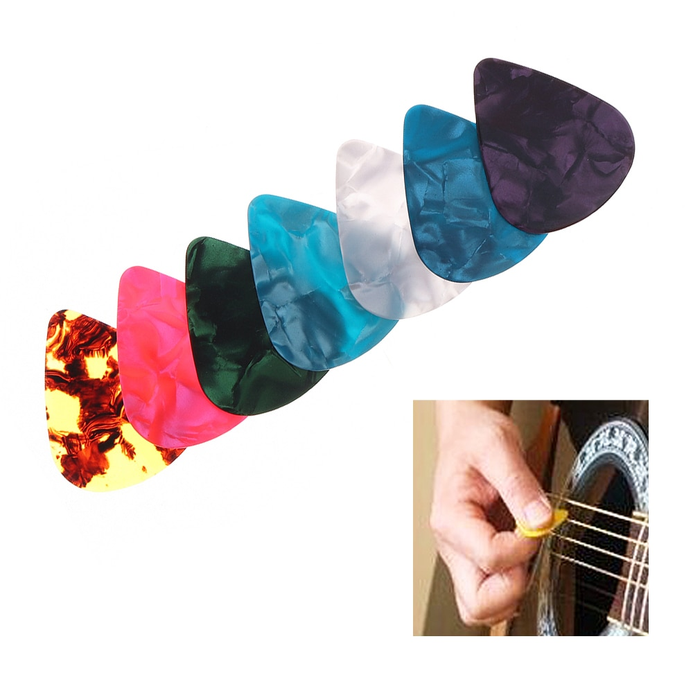 Multi púas para guitarra coloridas ABS Plectrum Plucked accesorios de instrumento de cuerda para reproductor de guitarra