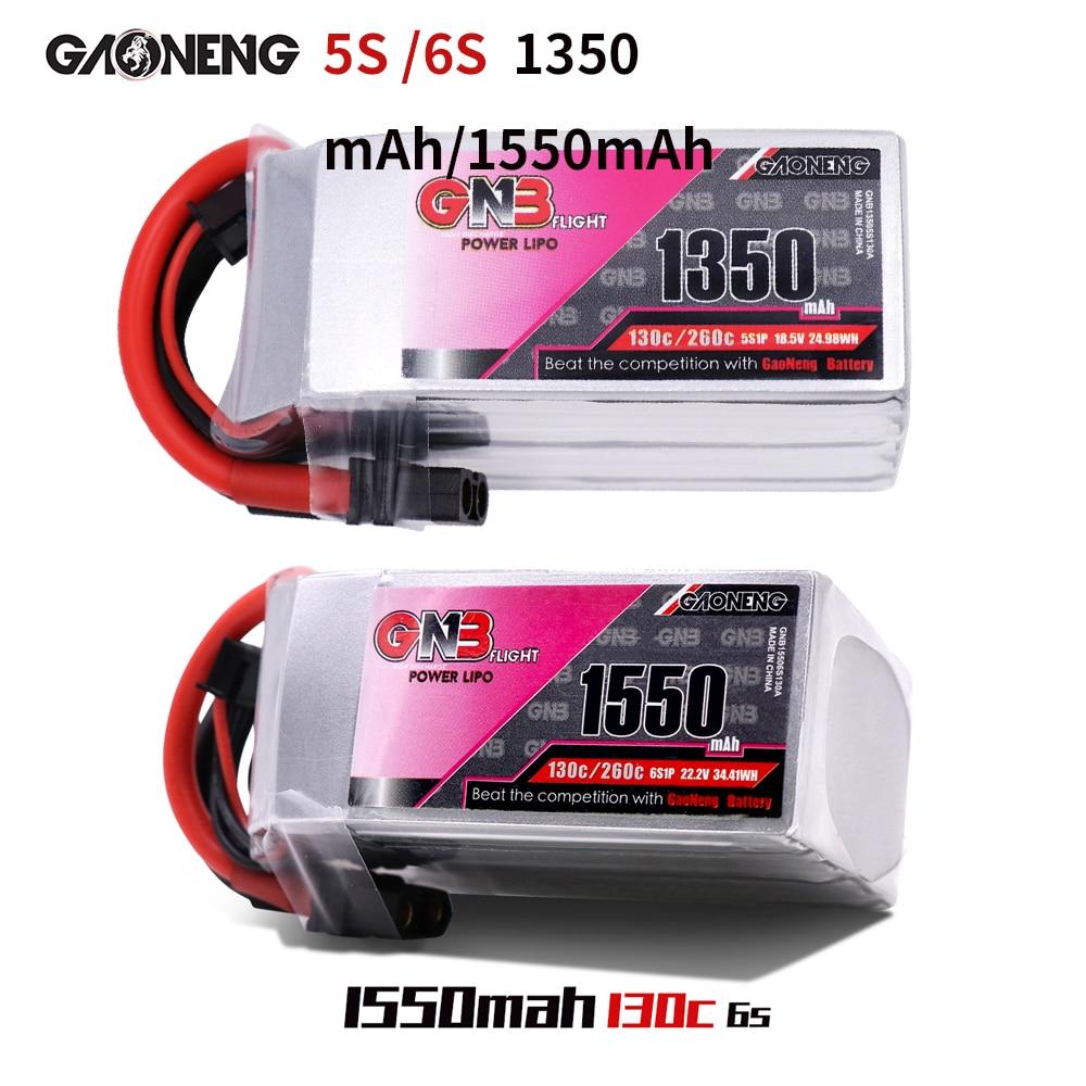 Gaoneng GNB FPV Lipo Batterie 5S 18,5 V 6S 22,2 V 1350mAh 1500mAh Batterien Ffor RC flugzeug Quadrocopter Drone AKKU