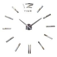 הגעה חדשה קוורץ שעוני קיר אופנה שעונים 3d אמיתי גדול קיר שעון מיהר מראה מדבקת diy סלון hoom דקור קיר מדבקה