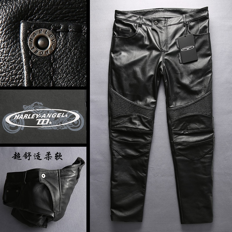Genuine Cow Leather Motorcycle Rider Pants