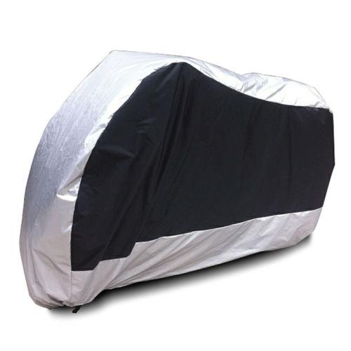 XXL 180T cubierta de plata impermeable de la motocicleta para Honda VTX 1300 C R S RETRO VTX1800/Yamaha v-star XVS 650 1100 Silverado personalizado