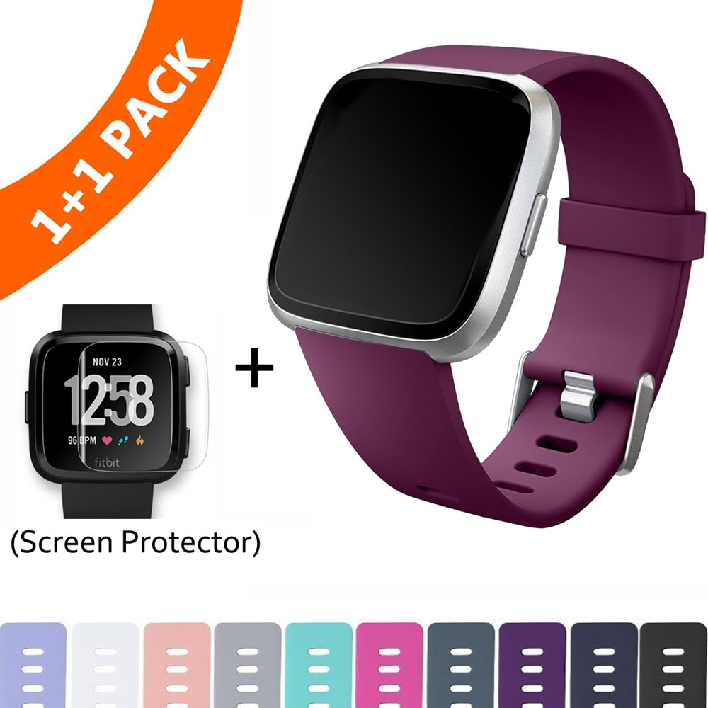 Replacement Band For Fitbit Versa/Versa Lite Starp Soft Silicone Waterproof Wrist Accessories Strap
