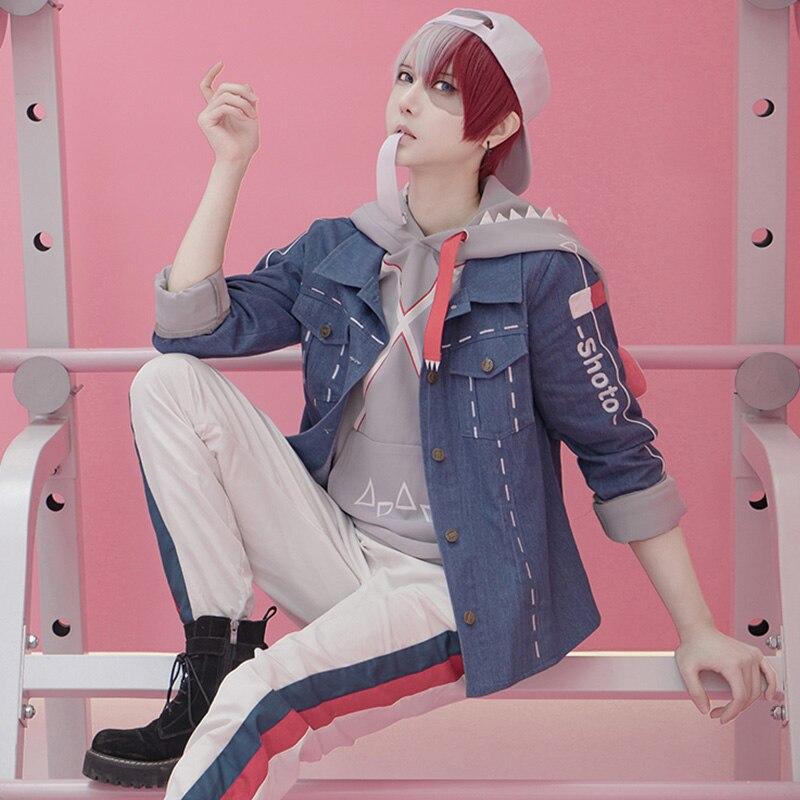 Cosplay de Anime Todoroki Shoto, chaqueta de Fan-fiction, lindos trajes de dinosaurio, disfraces de Cosplay, juegos completos A
