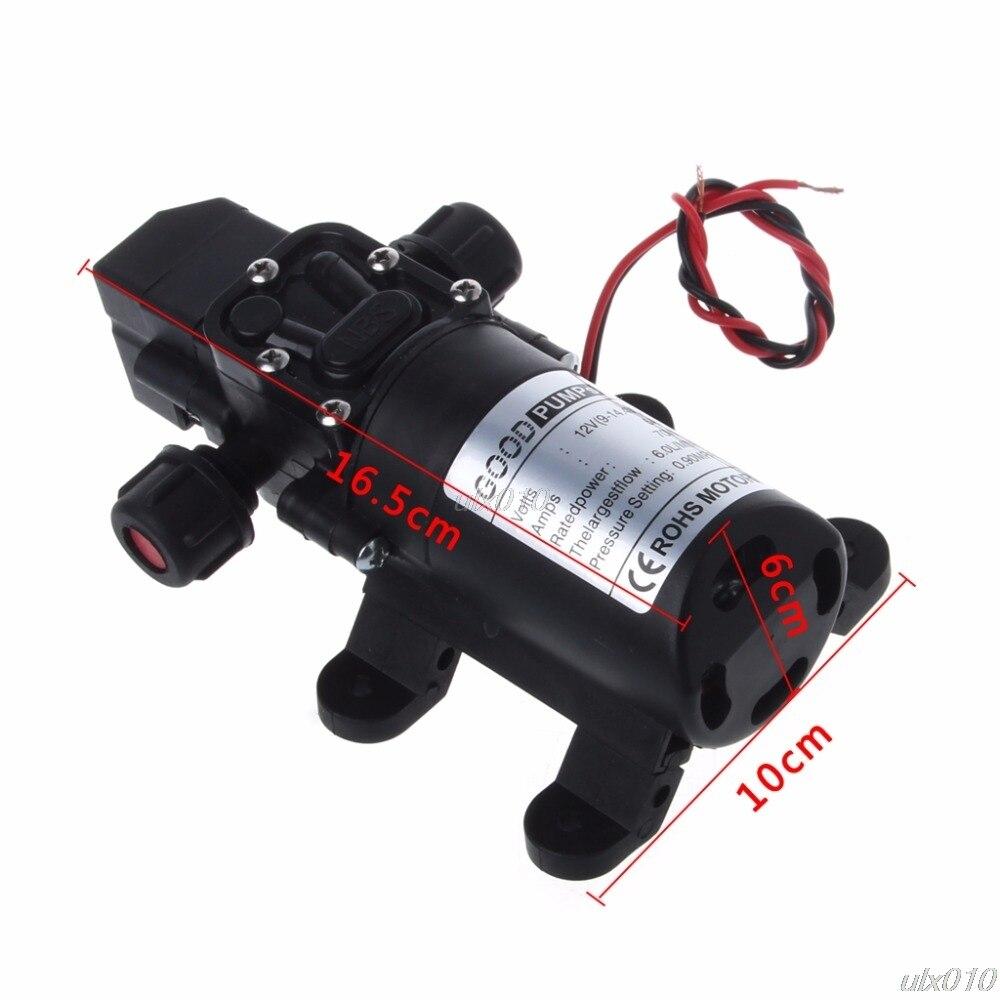 DC 12V 70W 130PSI 6L/Min Water High Pressure Pumps Diaphragm Self Priming Pump S18 Wholesale&DropShip