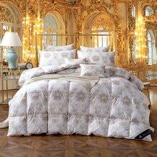 Couette lit double reine   Taille 100% coton, Duvet doie, Duvet de canard, couette set de lit, housse de couette, remplissage épais chaud et doux couverture