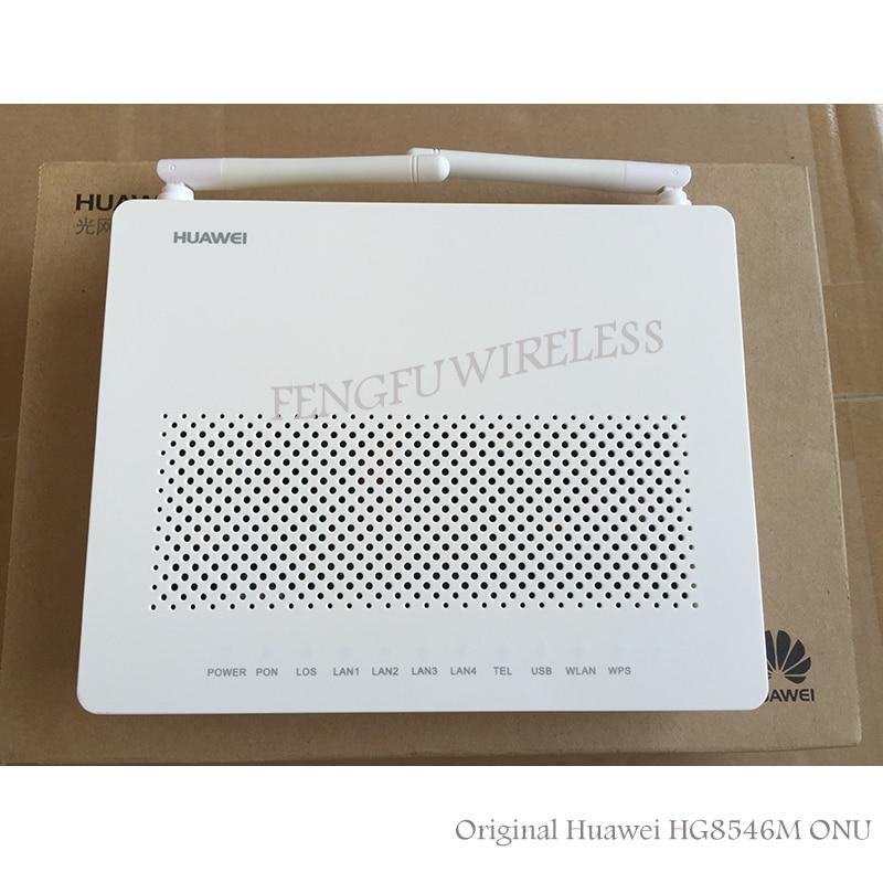 Хит! 100% оригинальный новый для Huawei HG8546M Gpon WiFi Ont onu 1GE + 3FE + VOICE + WIFI Английский модем Firmwarel сетевое оборудование для связи