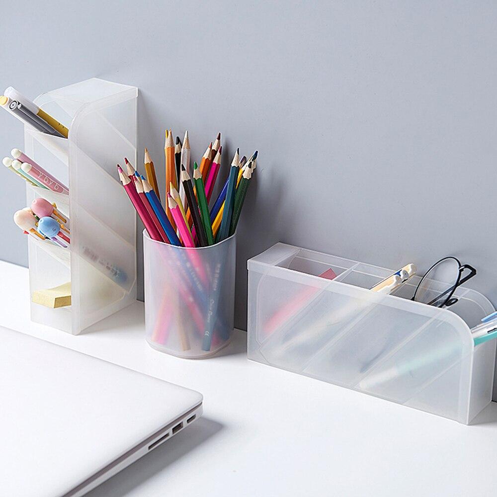 4 rejilla porta pluma de escritorio mesa superior caja de almacenamiento de papelería multicompartimiento hogar Oficina escuela contenedor escritorio portalápices
