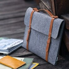 Wool Felt Slim Handbag Laptop Bag 15.6 For Macbook Air 13 Pro 11 12 14 15 Notebook Case For Xiaomi Samsung Lenovo Portable Cover