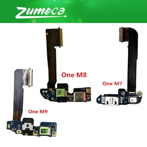 Calidad AAA + para HTC uno M7 801E HTC One M8 831C HTC One M9 de carga Flex Cable de carga USB cable flexible del conector del puerto