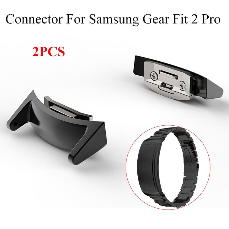 2 шт./лот разъем из нержавеющей стали адаптер для Samsung Gear fit2 Pro SM-R360 Смарт-часы ремешок разъемы смотреть адаптеры 6 цветов