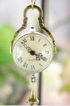 Cristal boule de poche montres femmes en gros bonne qualité chaud rétro Bronze ton collier chaîne Quartz cadeaux pour dames hommes 100 pc