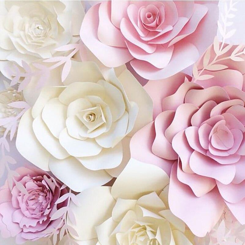 1pcs 30cm DIY Artificial Paper Flowers Wedding Decoration Backdrop Happy Birthday Party Paper Crafts DIY Event Supplies