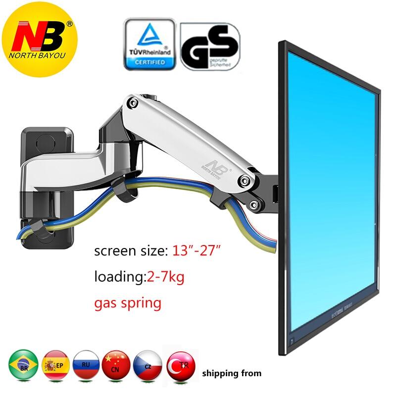 NB F150 2-7 кг 75x75 100x100 алюминиевая газовая пружина с вращением на 360 градусов Кронштейн для ТВ с двойным кронштейном 17