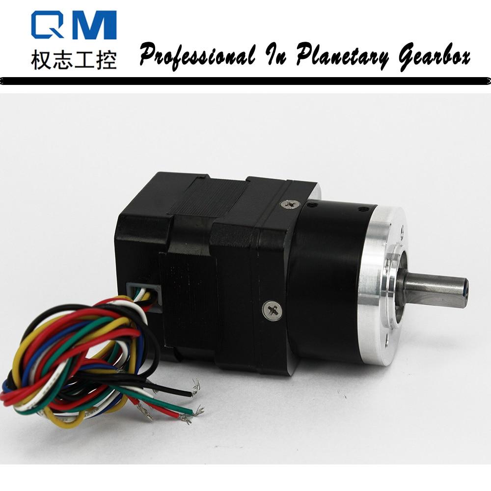 DC gear motor planetary reduction gearbox ratio 41 nema 17 30W 24V gear brushless dc motor